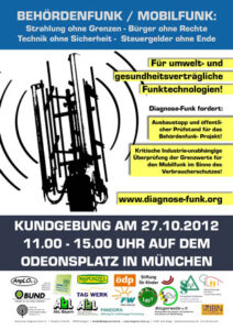 Diagnose Funk Plakat Kundgebung