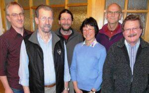 Der neue Vorstand der UIP: (von links) Leo Barnsteiner, Bernhard Maier, Michael Kirchbichler, Claudia Fenster-Waterloo, Reinhard Waterloo und Gerhard Kral (Foto: Sigi Müller)