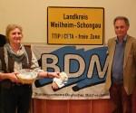 """Bernhard Heger (BDM-Kreisvorsitzender), Lucia Egner (AbL), Henning Hintze (Referent, Attac) und Manfred Unger (""""Stoppt TTIP/CETA/TISA""""-Bündnis)"""