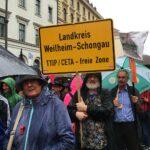 Demo gegen CETA und TTIP in München am 17. September 2016