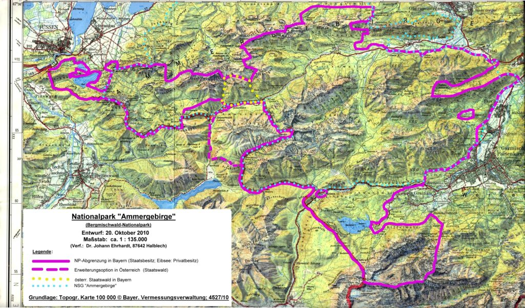 Die Grenzen des Nationalparks Ammergebirge - 2010-10-20