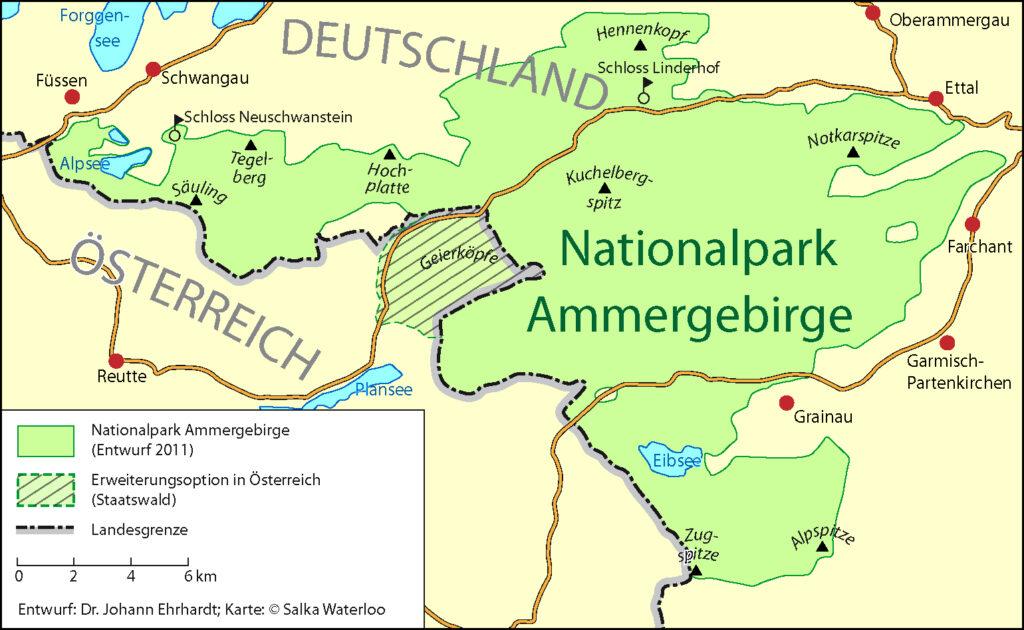 Dieses Gebiet könnte der Nationalpark Ammergebirge umfassen.