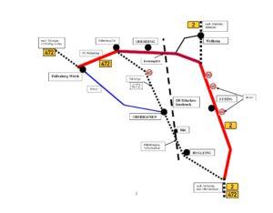 Alternativroute zur Umgehung von Huglfing und Oberhausen