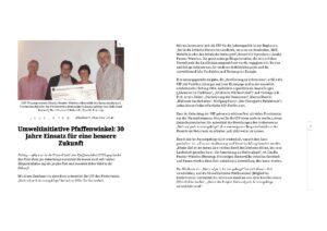 30 Jahre Einsatz für eine bessere Zukunft (Schongauer Nachrichten online vom 28.11.2014)