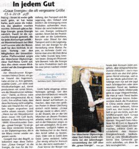 Vortrag von Karl-Heinz Grehl bei der JHV 2013 (KB 13.04.2013)