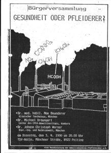 Bürgerversammlung mit Dr. Braungart am 3.4.1990 in Peiting: Gesundheit oder Pfleiderer